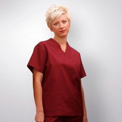 anade-chaqueta-uniforme-trabajo-pijama-sanitario-burdeos