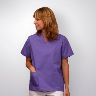 anade-chaqueta-uniforme-trabajo-pijama-sanitario-morado