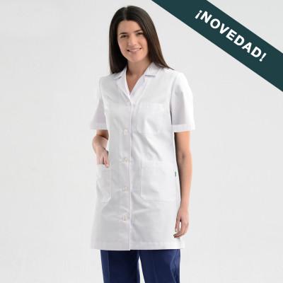 anade-bata-medica-mujer-entallada-manga-corta-nueva
