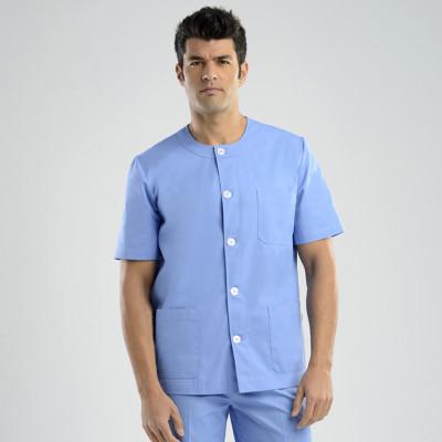 anade-chaqueta-uniforme-trabajo-sanitario-boton-celeste