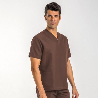 anade-chaqueta-uniforme-medico-marron