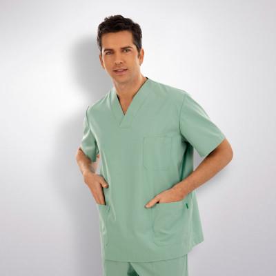 anade-chaqueta-uniforme-trabajo-pijama-sanitario-verde