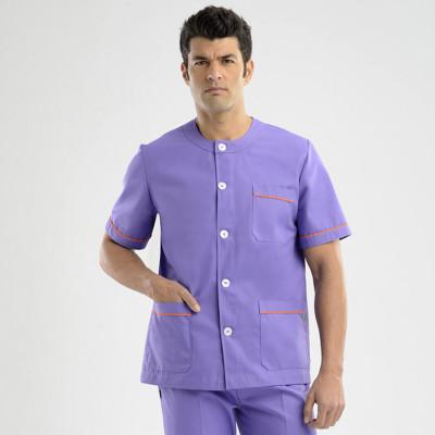 anade-chaqueta-uniforme-trabajo-sanitario-boton-morado-naranja