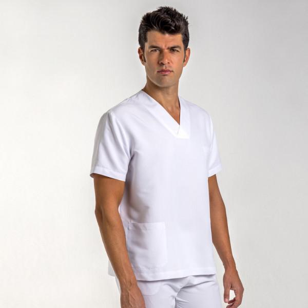 Chaqueta pijama uniforme sanitario blanco