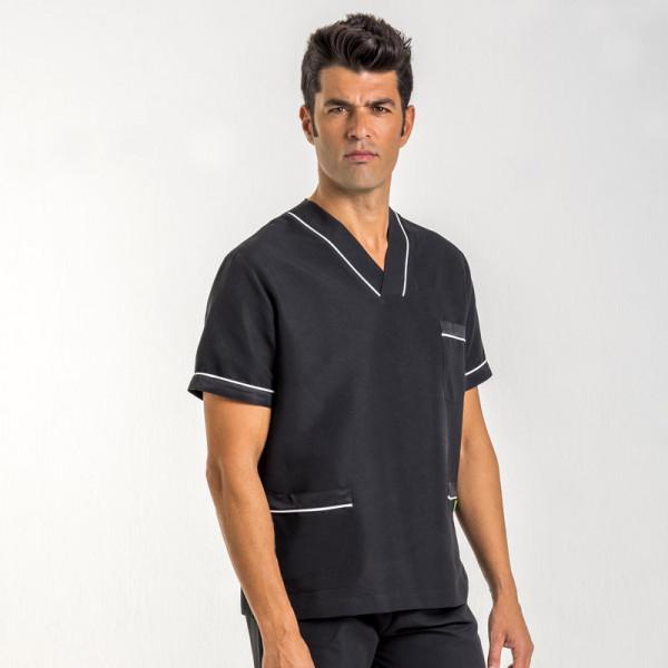 Chaqueta pijama uniforme sanitario negra y blanca for Sanitarios negros