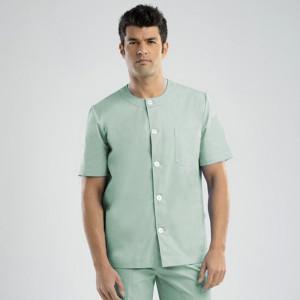 anade-chaqueta-uniforme-trabajo-sanitario-boton-verde-claro