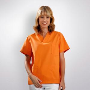 anade-chaqueta-uniforme-trabajo-pijama-sanitario-naranja