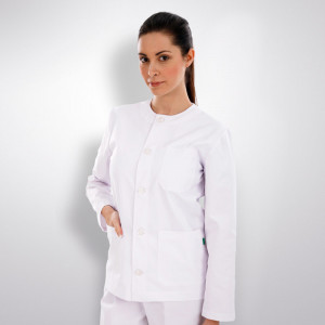 anade-chaqueta-uniforme-trabajo-sanitario-boton-manga-larga-blanca