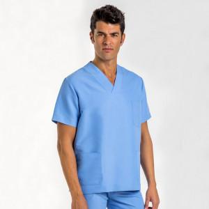 Anade-chaqueta-pijama-uniforme-medico-microfibra-celeste