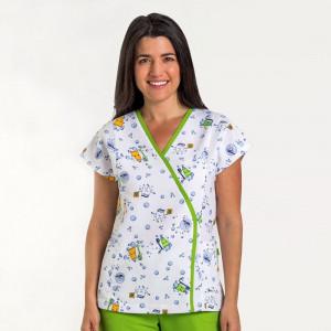Anade-chaqueta-sanitaria-mujer-microfibra-estampada-dientes-blanca