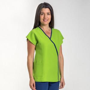 anade-chaqueta-uniforme-trabajo-auxiliar-mujer-microfibra-verde-azul