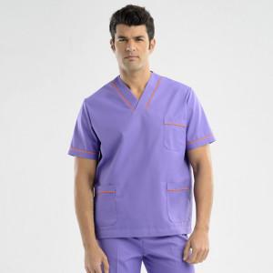 anade-chaqueta-uniforme-trabajo-pijama-sanitario-morada-naranja