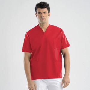 anade-chaqueta-uniforme-trabajo-pijama-sanitario-rojo