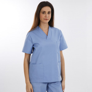 anade-chaqueta-uniforme-trabajo-pijama-sanitario-celeste