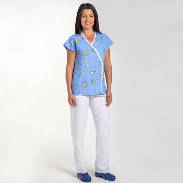 Uniforme Sanitario Uniforme Sanitario Sanitario Estampado Estampado Chaqueta Señora Chaqueta Señora Uniforme Chaqueta EA4qwxz